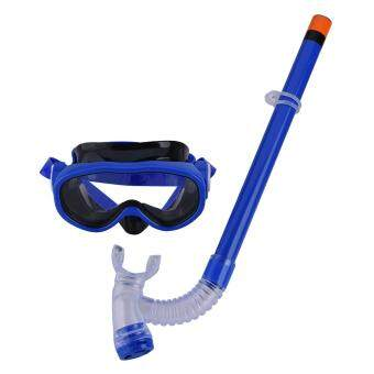 Diving Mask Glasses Semi-dry Snorkel with Mouthpiece For Snorkeling Swimming (blue)