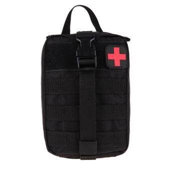Durable Medical First Aid Cover Outdoor Emergency Package TravelKit Bag(Black)