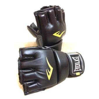 Everlast MMA Protex Glove Grappling Boxing Muay Thai Training UPCGym BLACK