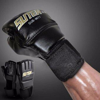 Fancyqube Gym MMA Muay Thai Training Punching Bag Half MittsSparring Boxing Gloves