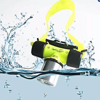 FFY 2000 Lumen Waterproof XML T6 LED Diving Flashlight Underwater20m Headlamp Headlight Dive Head Light Torch Lamp Bicycle CyclingLights (Yellow)