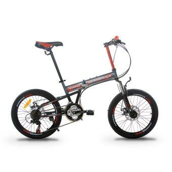 GAMMAX GM200111-BC 20 Inch Foldable MTB with Shimano 21 Speed(Matte Grey with Red)