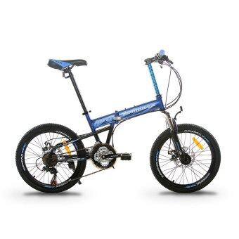 GAMMAX GM200111-BC 20 Inch Foldable MTB with Shimano 21 Speed(Matte Navy Blue)