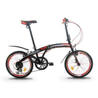 GARION G2019-BC 20 Inch Foldable Bike Folding Bicycle with Shimano 6 Speed Gear System (Matte Red)
