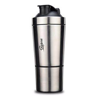 HELME 590ML Gym Protein Shaker Stainless Steel Bottle With Removable Cup