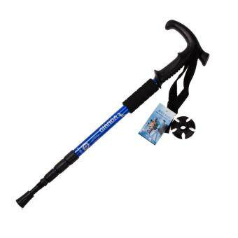 Hiking Waking Trekking Trai Poe Utraight 4-ection Adjutabe Cane