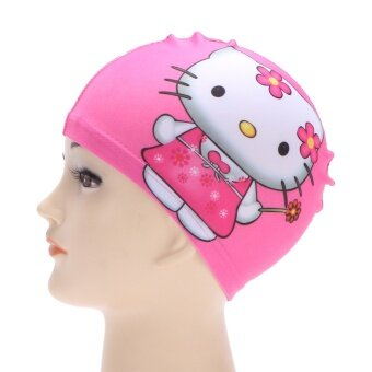 Hot Spring and comfortable men girls cloth swimming cap children swimming cap