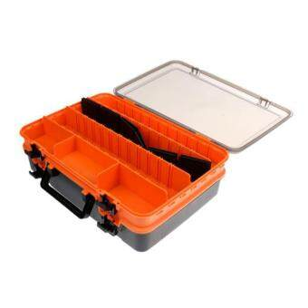 MagiDeal Waterproof Double Layer Fishing Tackle Storage Box Multi-Compartments Case