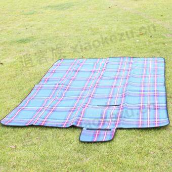 Outdoor picnic camping moisture-proof pad folding fashion tent mat beach sand grass cushion (Red)