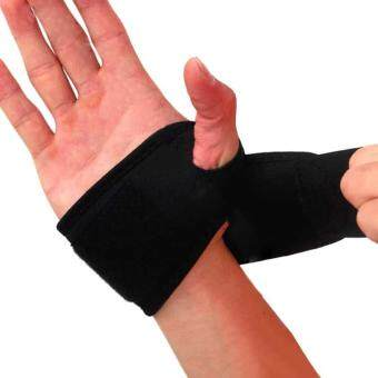 PAlight Polyester Wrist Guard Band Brace Support Gym Strap MagneticCarpal Tunnel Sprains Strain Protection