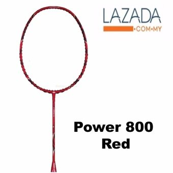 Power 800 (1pcs) Red Unstrung Badminton Racket