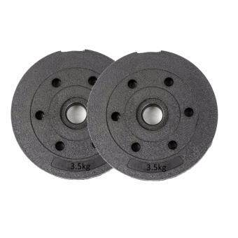 SellinCost High Grade Bumper Dumbbell Weight Plate Barbell Plates3.5kgx2