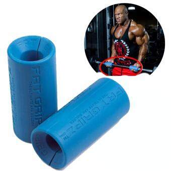 Sellincost Top Grade Gym Fat Gripz Hand Grip Dumbbell Barbell Olympic Bar Fitness Increase Strength Portable Blue (2 Units)