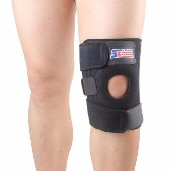 SX524 Silicone 4-Spring Knee Pads Knee Sleeve Support Patella Guard- Black