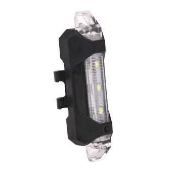 Waterproof USB Rechargeable Bike Bicycle Tail Light Night Flashing Warning Flashlight Cycling LED Lamp Sport Lighting Clear