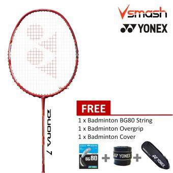 Yonex Duora 7 Red (3U) Badminton Racket Package