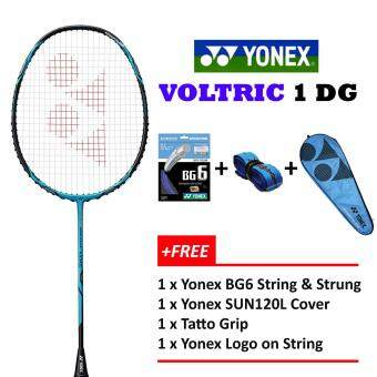 Yonex Voltric 1 DG Vivid Blue+Free Stringing@26lbs Badminton Racket Package