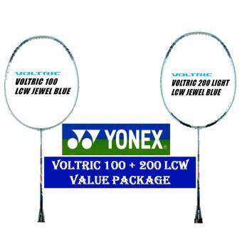 Yonex Voltric 100 & 200 Light LCW Jewel Blue (5U) Badminton Racket Package
