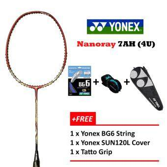Yonex Voltric Nanoray 7AH (4U) Red+Free BG6+Grip+Cover Badminton Racket Package