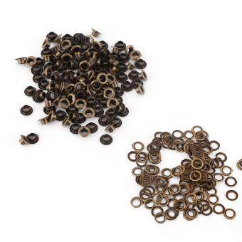 100pcs Grommets Eyelets with Washers for Leather Craft Bags (Inner4mm)