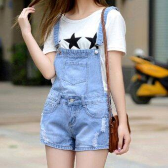 2016 Han Edition Women's Jeans Overall Fashion Suspenders Two WearA Pants