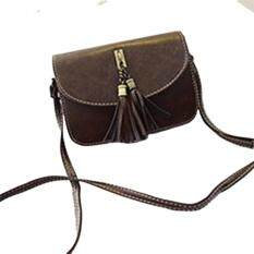 360DSC Womens PU Envelope Clutch Bag Crossbody Bag with Tassel Pendant - Brown. Fashionable ...