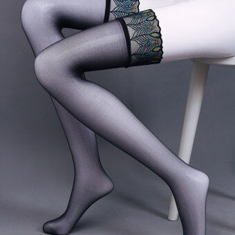 6D Peacock lace thin over-the-knee sexy stockings (Lace peacock)