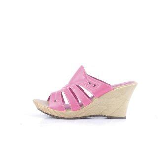 Alfio Raldo Wedges Sandals Fushia Pink