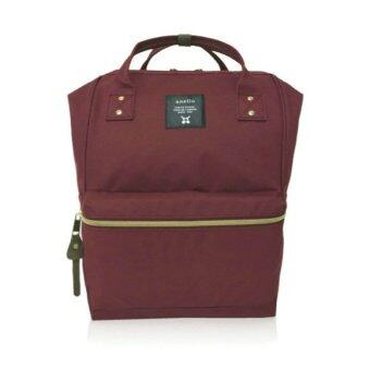 anello new polyester casual backpack with back zip wine. Black Bedroom Furniture Sets. Home Design Ideas