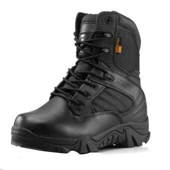 Army Male Commando Combat Desert Winter Outdoor Hiking Boots Landing Tactical Military Shoes (Size 36 - 45)
