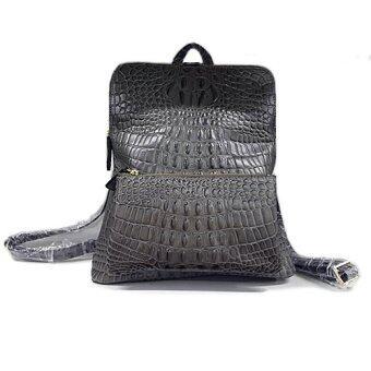 Black Crocodile Leather Look Beautiful Genuine Leather Backpack ...
