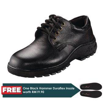 Black Hammer 2000 Series Low Cut Lace up Safety Shoes