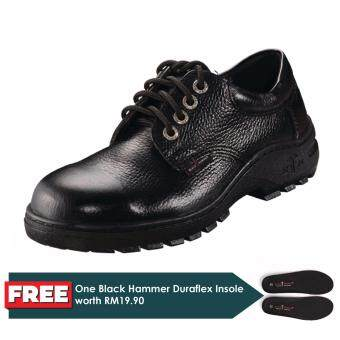 Black Hammer Classic Series Low Cut Lace up Safety Shoes