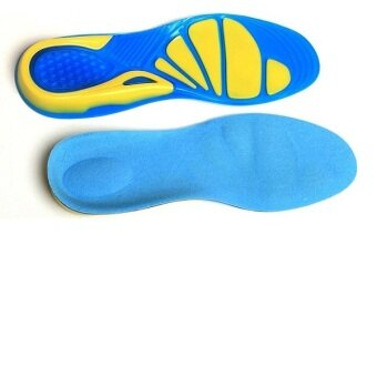 BolehDeals Unisex Silicone Gel Arch Support Sports Insoles ShockAbsorption Shoe Pads M
