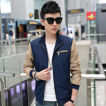 Casual New style Spring and Autumn thin jacket men's jacket (Shen Lan)