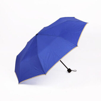 Cool anti-UV Folding Umbrella plain umbrella (Ok navy blue version1) (Ok navy blue version1)