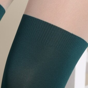 COS Japanese-style autumn over-the-knee candy-colored pantyhose stockings socks (Ink green color)