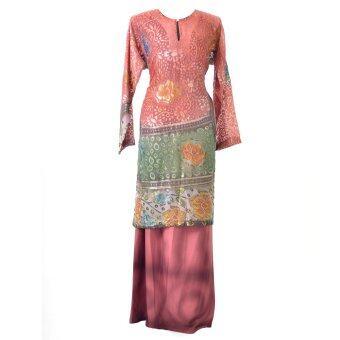 Cotton & Silk - Baju Kurung - Brasso Matching 9601 A3 Maroon
