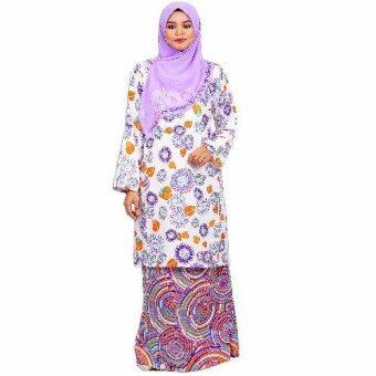 Cotton & Silk - Baju Kurung Pahang - Valentino Crepe Matching - 9209 - Kurung Pahang Honey -D5 (Purple)