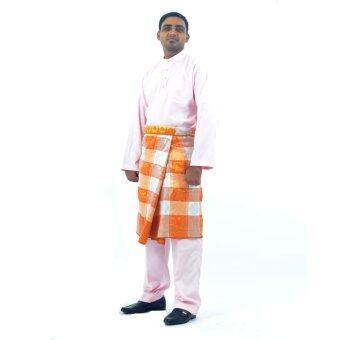 Cotton & Silk - Baju Melayu NFL 12 - Baju Melayu Poly Cotton Alexander - D4 (Pink)
