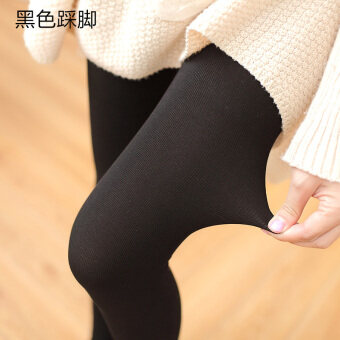 Cotton gray spring and autumn slimming stockings pantyhose (Black step on the foot) (Black step on the foot)