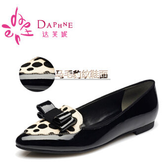 Daphne fashion bow pointed animal pattern shoes