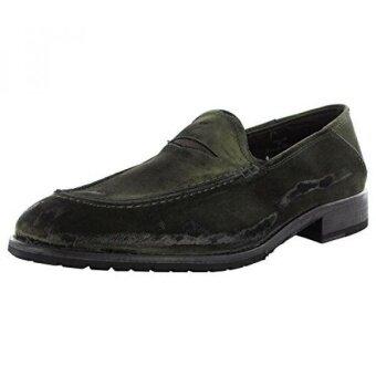 ☪ Superior Donald J. Pliner Mens Zvian-UD Casual Loafer Shoe Olive  Distressed Leather7 Online code
