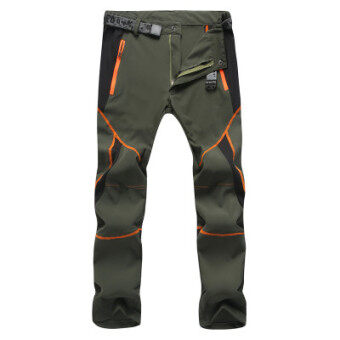 Every day special outdoor quick-drying pants for men and womentrousers Slim fit summer stretch jacket pants thin loosemountaineering pants (Female models dark green color)