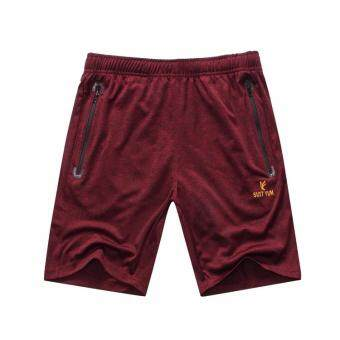 [Every day special] Summer New style outdoor quick-drying pantsmen's breathable sports running fitness quick-drying shorts (Winered color)