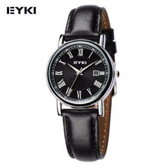 Eyki Women's Black Leather Strap Watch W8522