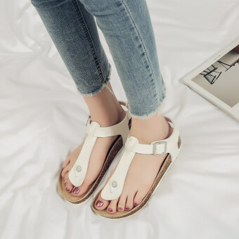 Fashion female outerwear flat Driving shoes sandals (103 sandals white) (103 sandals white)