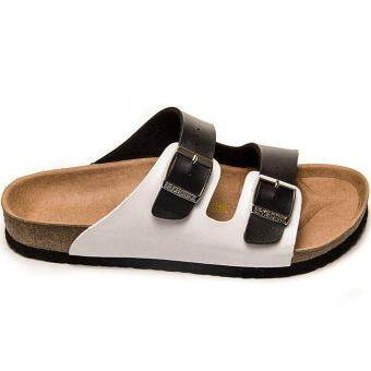 e14ba4b4bcf Fashion For Birkenstock Arizona Soft Footbed Flat Slippers Men (Black White)