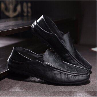 Fashion Leather Slip On Men Driving Moccasins Loafers Casual Shoes England Dress