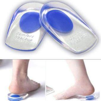 Fashion Men Silicone Gel Heel Inserts Support Insole Cushion PainRelief Plantar Fasciitis